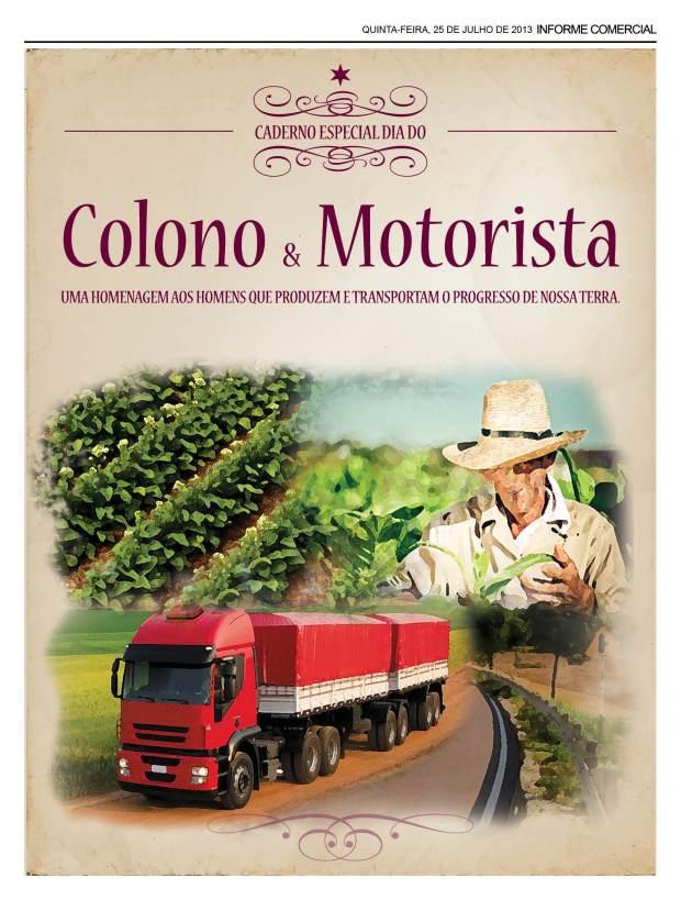 Caderno Colono e Motorista